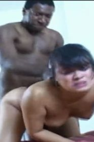 Young asian get punished by black cock